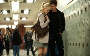 Картинка Emma Stone, Andrew Garfield, Peter Parker, Gwen Stacy, The Amazing Spider-Man 2, Новый Человек-Паук 2