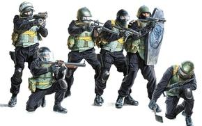 Картинка оружие, спецназ, автоматы, антитеррористическая группа, Вымпел