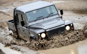 Картинка машина, грязь, defender
