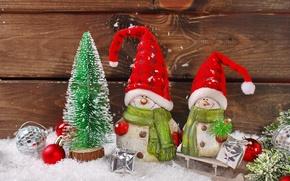 Картинка украшения, игрушки, Новый Год, Рождество, снеговики, Christmas, vintage, New Year, decoration, Happy, Merry
