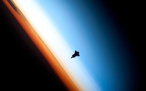 Картинка атмосфера, орбита, шаттл