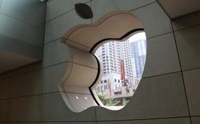 Картинка город, apple, чикаго, магазин, apple store