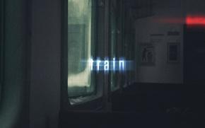 Картинка текст, поезд, свечение, окно, light, wallpaper, сидения, train, window