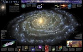 Обои Земля, Карта, Галактика