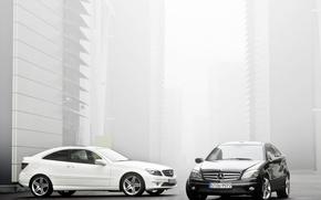 Обои black, Mercedes, white