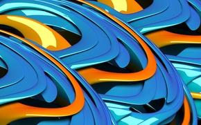 Обои абстракция, узор, краски, объем