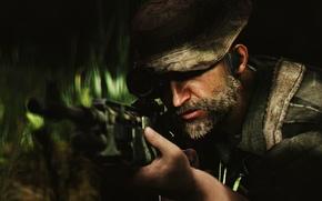 Обои борода, Call of Duty: Modern Warfare, John Price, Captain Price, infinity ward, мужчина, солдат, activision