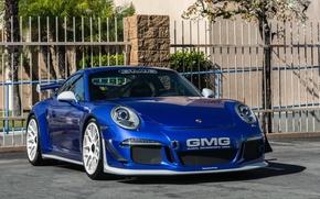Картинка 911, Porsche, Blue, 2015, GMG