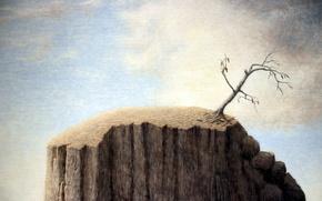 Картинка desert, mountain, tree
