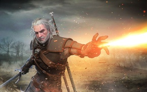 Картинка geralt, Witcher, Gwynbleidd, The Witcher 3: Wild Hunt, Geralt of Rivia, White Wolf, Butcher of ...