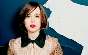 Картинка hair, Ellen Page, face, fashion, girl, eyes, actress, beautiful