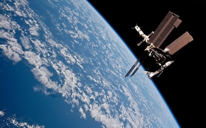 Картинка облака, Земля, МКС, прогресс