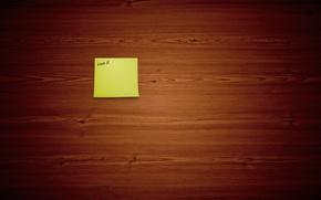 Обои минимализм, деревяшки, арт, записка, фон, обои, доски, надпись