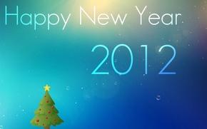 Обои надпись, обоя, ель, Новый год, 2012, happy, wallpapers, new, year, новогодняя