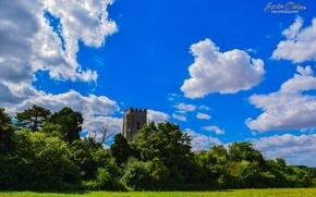Картинка Nature, Sky, Landscape, Magic, Summer, United Kingdom, Church, Cloud, Forest, Sorin Ochea Photography