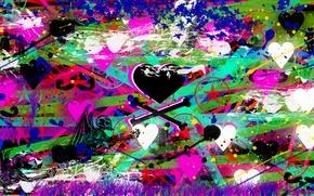 Картинка краски, смерть, сердце, Любовь, кисть, предательство, человек, капли
