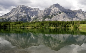 Картинка вода, пейзаж, горы, отражение