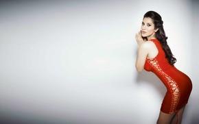 Обои Sophia Chaudhary, girl, eyes, brunette, девушка, actress, smile, pretty, hair, figure, sexy, актриса, celebrity, bollywood, ...