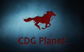 Картинка игры, лошадь, компания, CDG Planet