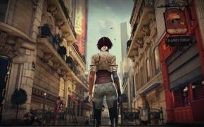 Картинка Париж, Девушка, Будущее, Art, Remember Me, Nilin