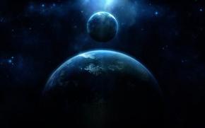 Картинка light, blue, energy, planet