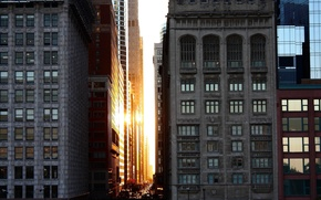Картинка Chicago, National Geographic, Sunset, Downtown, Architecture Buildings