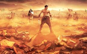 Картинка cinema, battlefield, sword, blood, war, dead, man, fight, movie, horse, film, warrior, helmet, strong, muscular, …