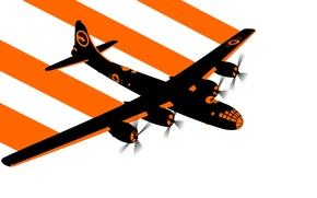 Картинка вектор, бомбардировщик, самолёт