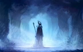Картинка лес, арт, колдунья, Maleficent, Малефисента