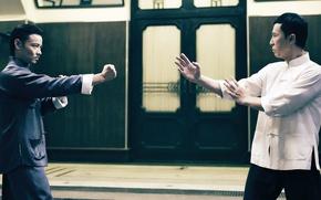 Картинка cinema, fighter, man, fight, movie, film, martial artist, kung fu, door, posture, Donnie Yen, wushu, …