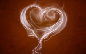 Обои сердечко, настроения, сердце, коричневый фон, аромат, кофе, кофейный аромат