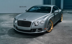 Картинка Bentley, Continental, Speed, Matte, Gray, Wheels, Strasse
