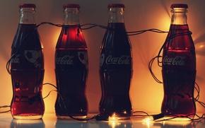 Картинка футбол, гирлянда, Coca-Cola, Кока-Кола