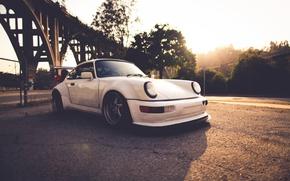 Картинка белый, 911, Porsche, порше, Carrera, 993