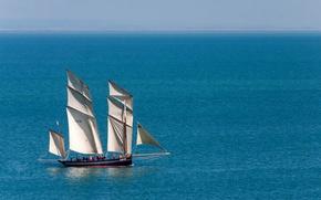 Картинка море, парусник, люггер, La Cancalaise
