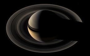 Картинка фото, планета, кольца, Сатурн, орбита, Saturn, наса, Cassini, кассини