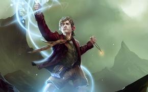 Картинка магия, властелин колец, арт, lord of the rings, Bilbo Baggins, коллекционная карточка steam