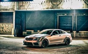 Картинка Mercedes-Benz, Coupe, C63 AMG, Black Series
