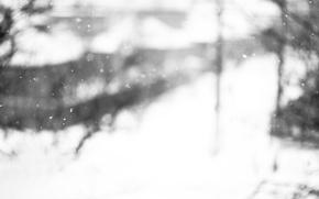 Картинка макро, стекло, снег, снегопад, зима, окно, снежинки, метель, окна, настроение, пурга, стёкла