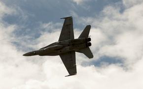 Картинка Небо, Самолет, F/A-18 Hornet, McDonnel Douglas