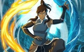 Обои магия, арт, Аватар: Легенда о Корре, вода, Korra, Avatar, Аватар, The Legend of Korra, стихия, ...