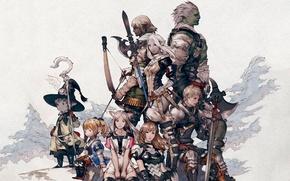 Картинка меч, войны, лук, final fantasy, yoshida akihiko