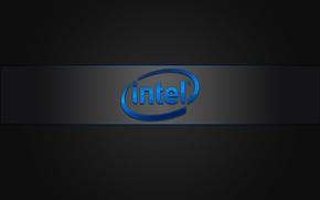 Картинка лого, intel, бренд