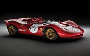 Обои классическое гоночное авто, ferrari, 350