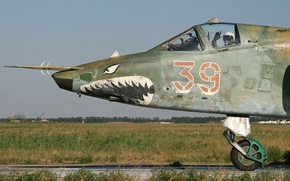 Обои пилот, штурмовик, Грач, Су-25, Su-25