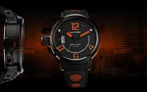 Картинка black, orange, watch, Jack Pierre