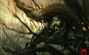 Картинка ветви, арт, ярость, Street Fighter, Blanka, antoniodeluca