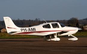 Картинка самолет, легкий, американский, многоцелевой, Cirrus, SR20