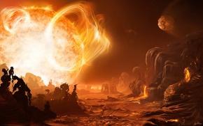 Обои солнце, 154, звезда, жар