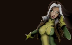Картинка Девушка, Rogue, Marvel Comics, Шельма, Роуг